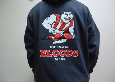 3 colour Screen printed hoodie