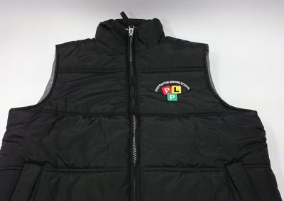 Embroidered puffer vest