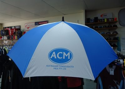 Golf Umbrella 1 Colour Print
