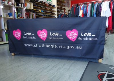 Sublimated flap tablecloth
