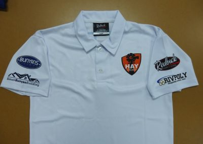 Sublimated polo front