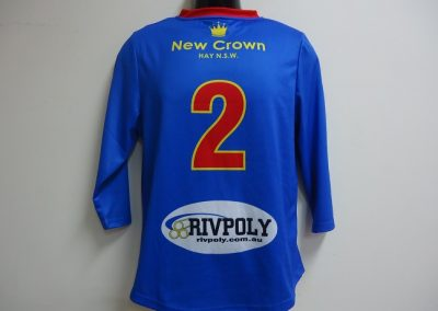 Sublimated training top back