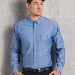 BS03L Men's Chambray Long Sleeve