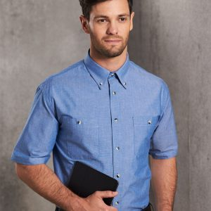 BS03S Men's Chambray Short Sleeve