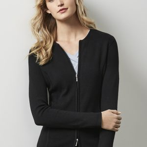 Ladies 2-Way Zip Cardigan