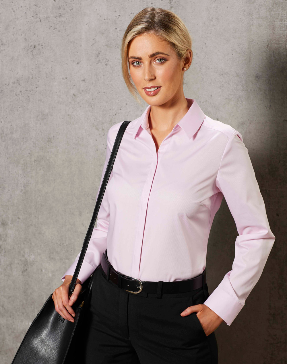 M8110L BARKLEY LADIES TAPED SEAM LONG SLEEVE SHIRT