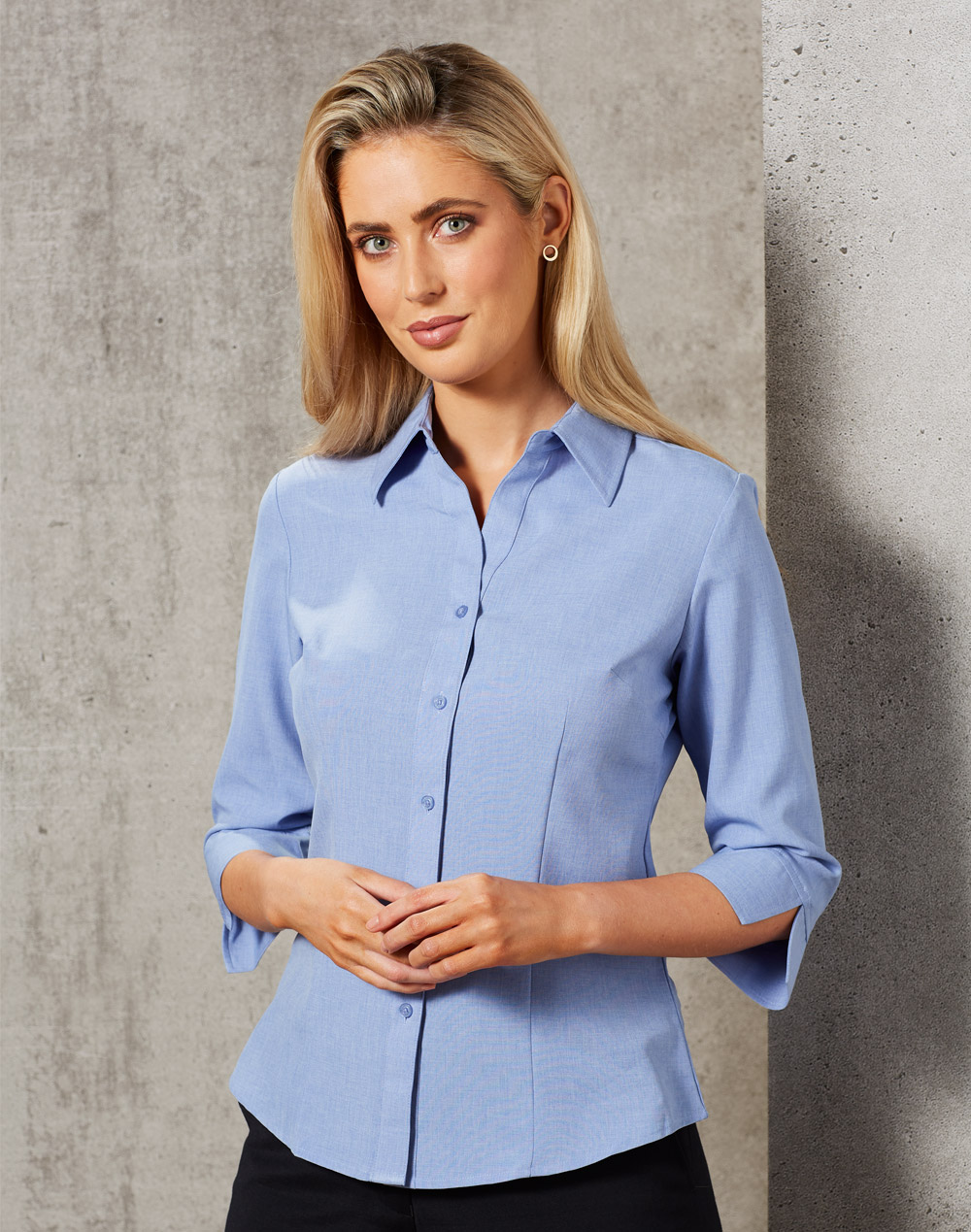 M8600Q Women's CoolDry 3/4 Sleeve Shirt
