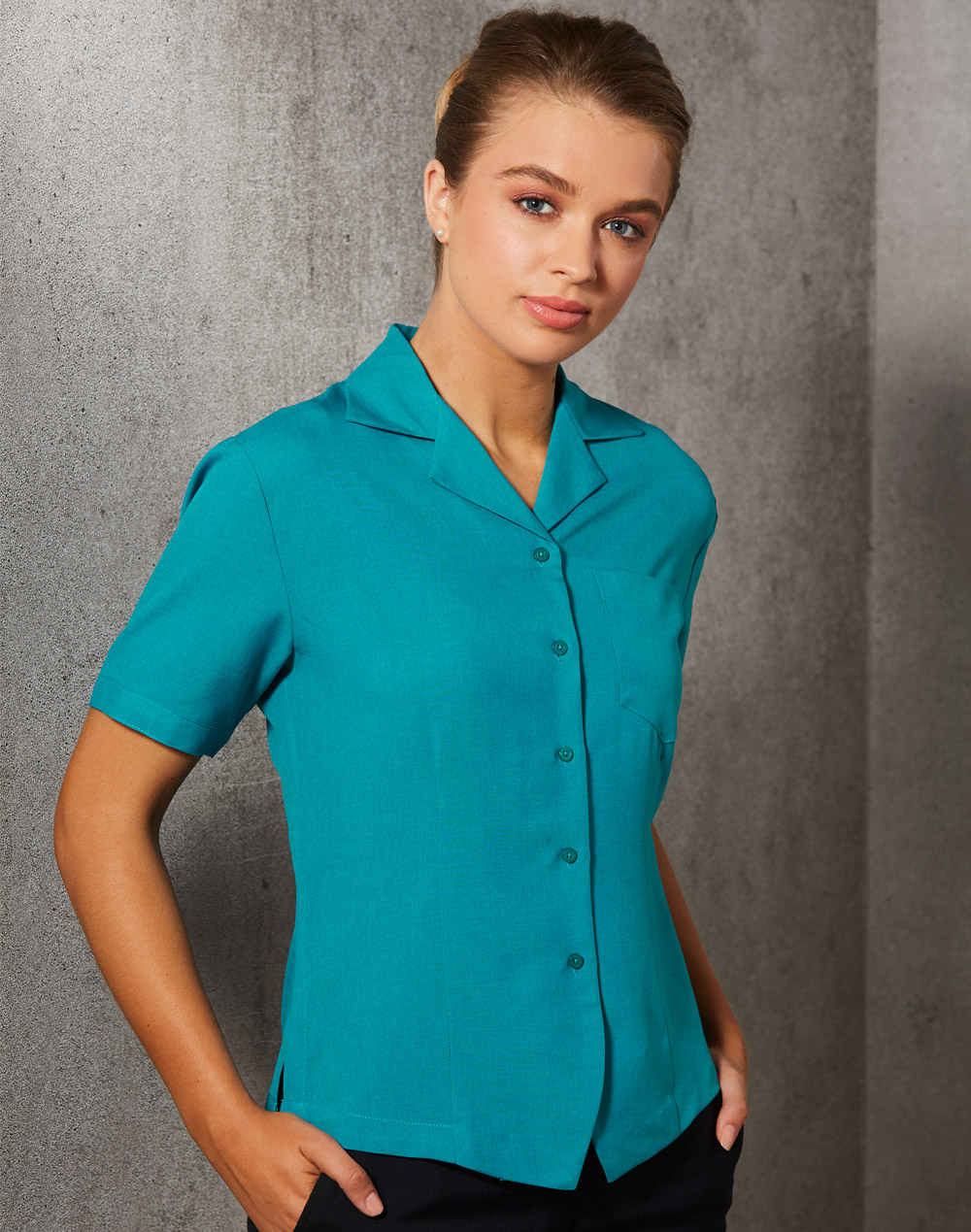 M8614S Women's CoolDry Short Sleeve Overblouse