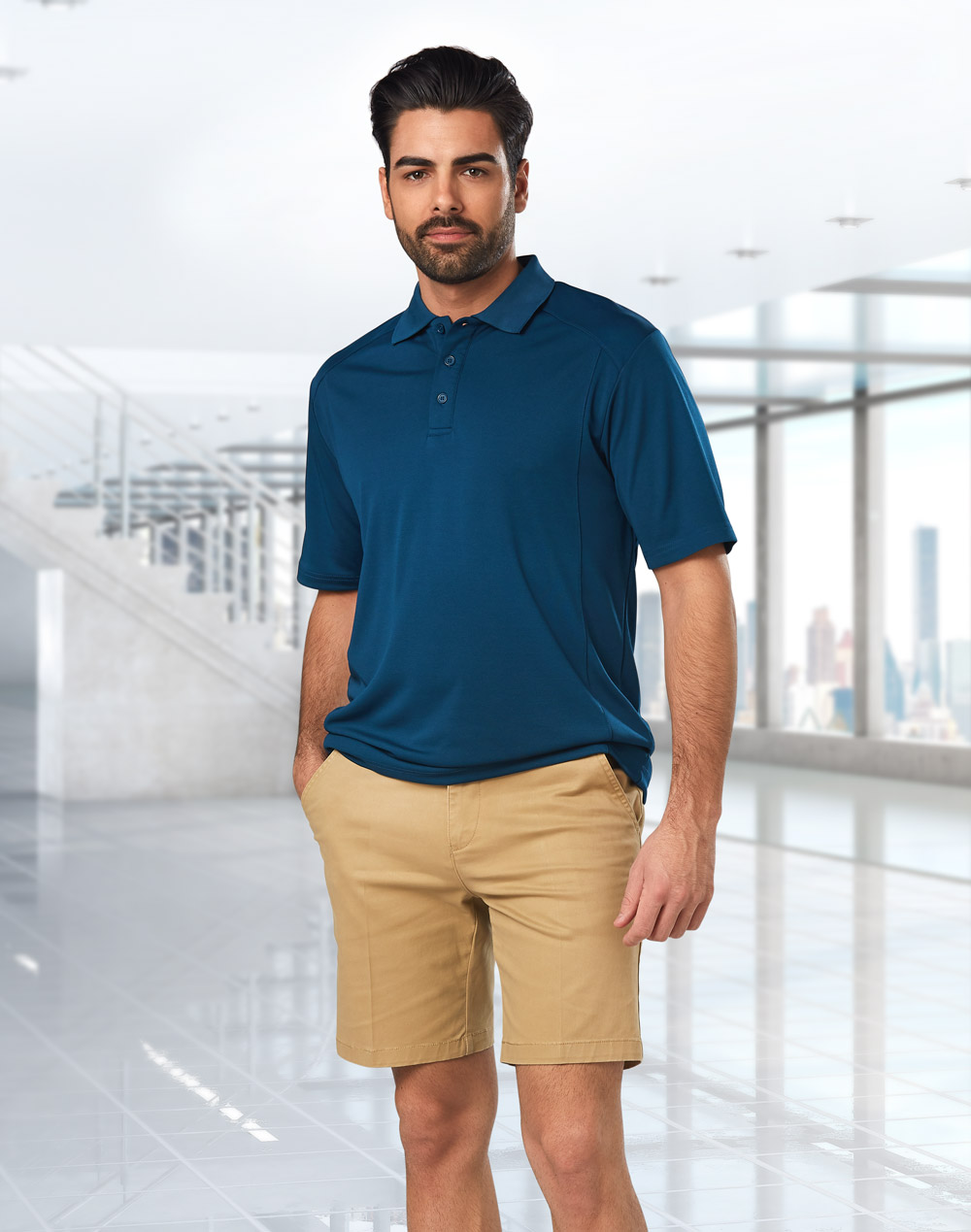 M9381 MENS STRETCH SLIMFIT BOSTON CHINO SHORTS