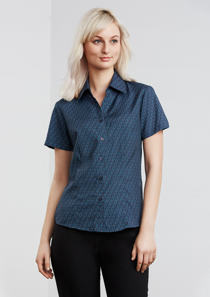 Ladies Printed Oasis Short Sleeve Shirt
