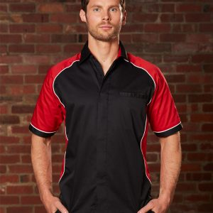 BS15 Men's Arena Tri-colour Contrast Shirt