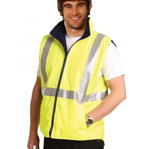 SW19A HI-VIS REVERSIBLE SAFETY VEST WITH 3M TAPES
