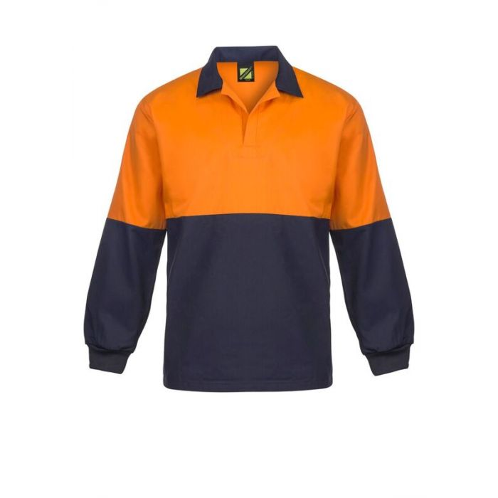 FOOD INDUSTRY HI VIS TWO TONE JAC SHIRT WITH CONTRAST COLLAR - LONG SLEEVE