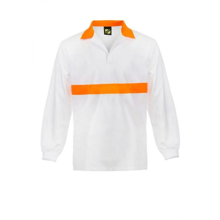 FOOD INDUSTRY JAC SHIRT WITH CONTRAST COLLAR AND CHESTBAND - LONG SLEEVE