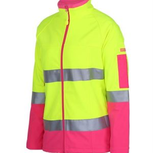 Ladies Hi Vis |D+N| Softshell Jacket with Reflective Tape