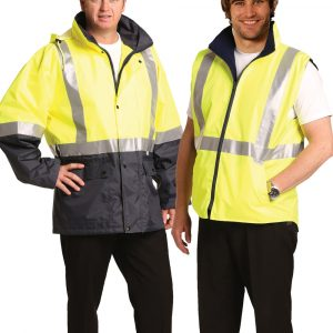 SW20A HIGH VIS REVERSIBLE VEST AND JACKET