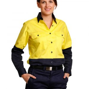 SW64 WOMEN'S LONG SLEEVE SAFETY SHIRT