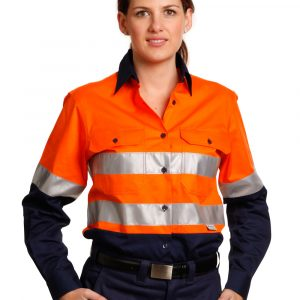 SW65 WOMEN'S LONG SLEEVE SAFETY SHIRT